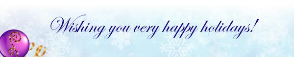 Wishing you very happy holidays